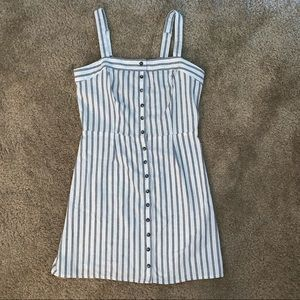 Black & White stripped button up dress